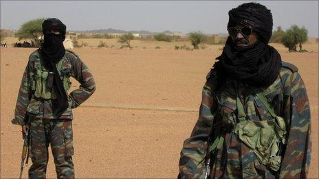 Tuareg in the Malian army in the northern city of Kidal