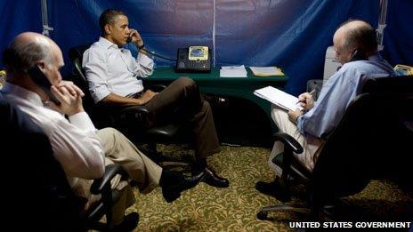 President Obama in a SCIF