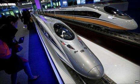 Chinese-made bullet train