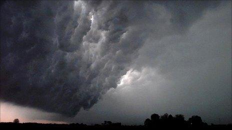 Thunderstorm in Iowa