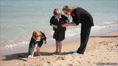School children at Joss Bay