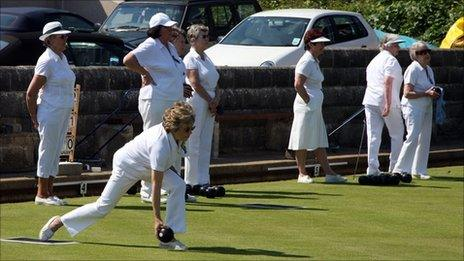 Bowlers on a bowling green - generic