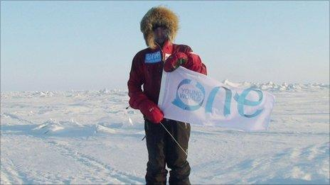 Parker Liautaud at the North Pole