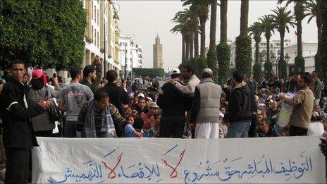 Demonstrations by unemployed people