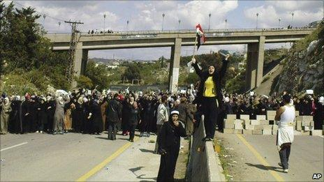 Anti-government demonstration in Banias, Syria, 13 April
