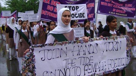 School children's rally in Srinagar, May 2011