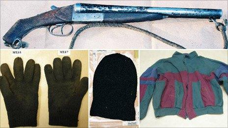 Forensic evidence shown to the jury