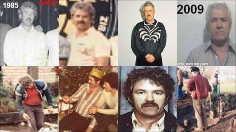 Pictures released by Dyfed-Powys Police show John Cooper through the years