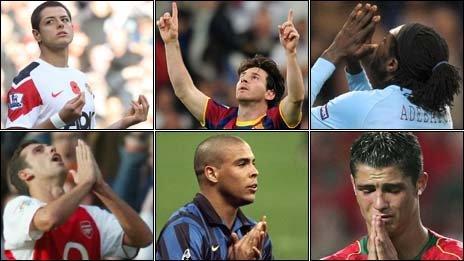 Javier Hernandez, Lionel Messi, Emmanuel Adebayor, Cristiano Ronaldo, Ronaldo, Edu