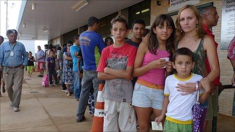 Rosineide Lima da Silva and her family in Brasilia live on 250 reais a month