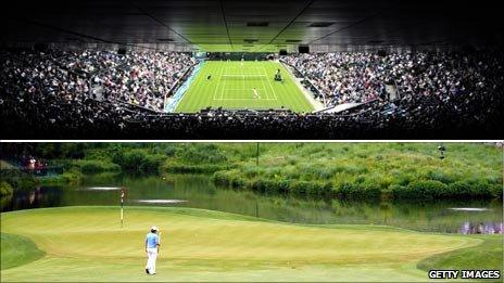 Andy Murray at Wimbledon, Rory McIlroy at the US Open