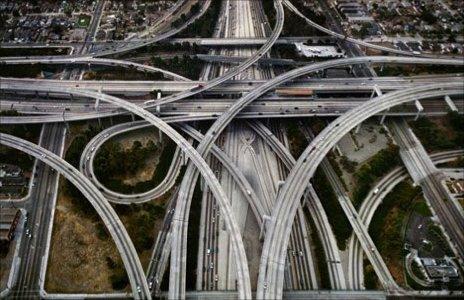 Complicated motorway junction
