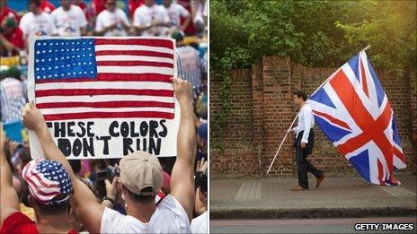 US flag and Union Flag