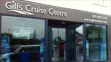 Gill's Cruise Centre's premises in Cardiff