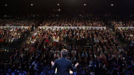 David Cameron addresses 2006 Tory conference