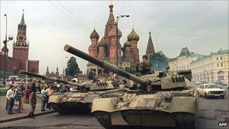 Tanks on Red Square, 1991
