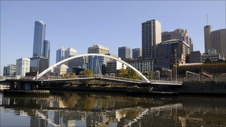 Melbourne skyline - file image