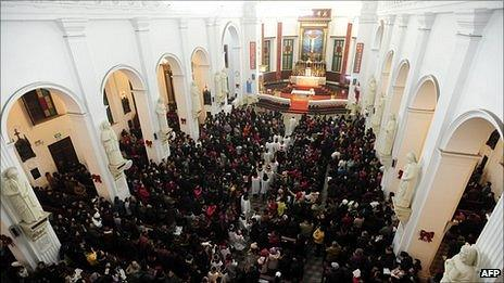 A Catholic Mass in Wuhan
