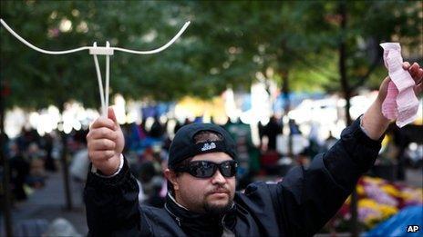 Protester Michael Pellagatti, New York, 2 October