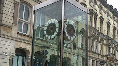 The Pierhead Clock mechanism in St Mary Street, Cardiff