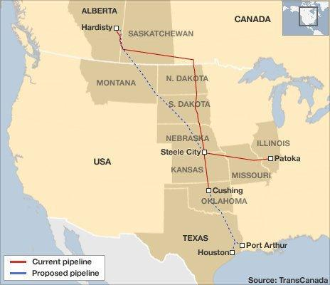 A map of the original proposed pipeline