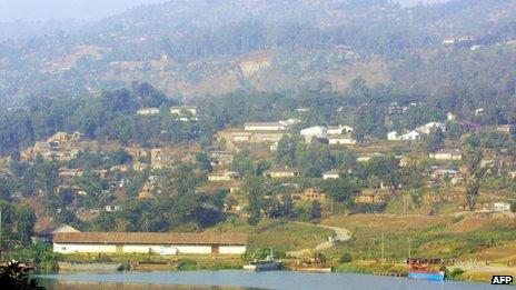 Lake Kivu in Bukavu (January 2004)