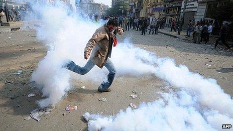Tear gas in Egypt