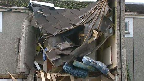 House in Caerphilly damaged by car
