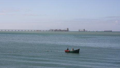 Phosphate conveyor belt near Laayoune port