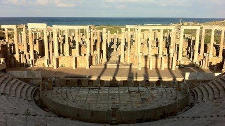 Roman ruins in Libya (2011)