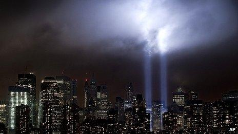 Tribute in Light at Ground Zero