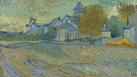Van Gogh's Vue de l'asile et de la Chapelle de Saint-Remy