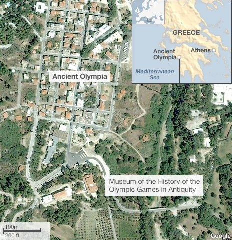 Map of Museum of the History of the Olympic Games in Antiquity in Olympia