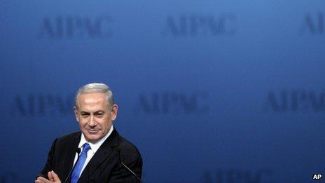 Benjamin Netanyahu addresses the American Israel Public Affairs Committee in Washington (5 March 2012)