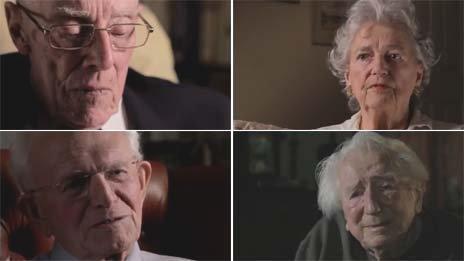Clockwise from top left Albert Boreham, Margaret Bullen, Ken Myers, Roy Robinson