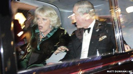 Prince Charles and the Duchess of Cornwall - photo copyright Matt Dunham/AP