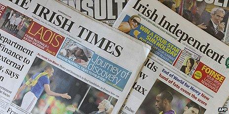 Irish front pages