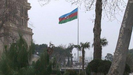General view of the Azeri capital, Baku