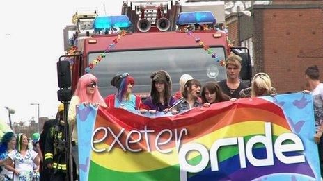 Exeter Pride march