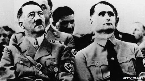 Adolf Hitler and Rudolf Hess