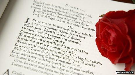 Text from Shakespeare sonnet