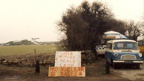 Peace camp at RAF Upper Heyford in 1982/3
