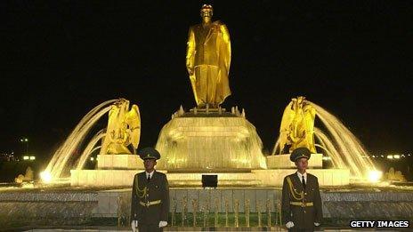Statue in Ashgabat
