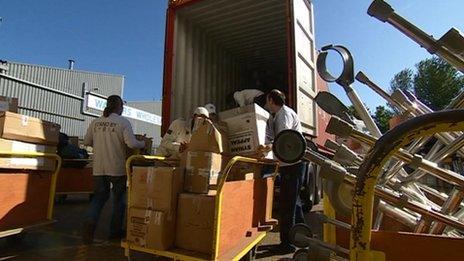 Aid shipment for Syria leaves Nottingham