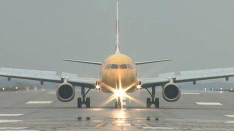 Flight BA2012 touching down at RNAS Culdrose