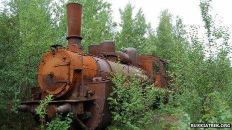 Engine on Salekhard-Igarka railway