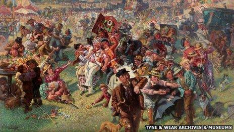 The Blaydon Races, William Irving, Shipley Art Gallery. Photo: Tyne & Wear Archives & Museums