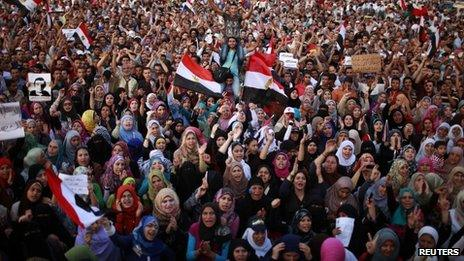 Protesters shout during a demonstration against the verdict for deposed leader Hosni Mubarak at Tahrir square in Cairo June 5, 2012.