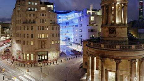New Broadcasting House at dusk