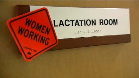 """Door with sight reading """"Lactation room - women working"""""""